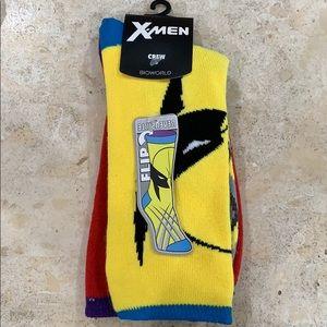 COPY - NWT wolverine reversible crew socks x-men …